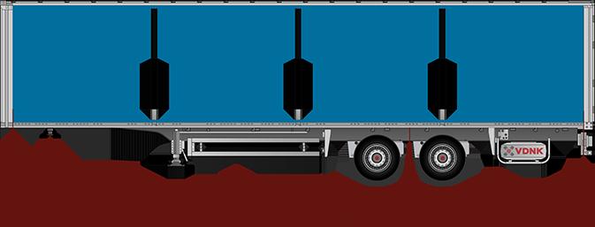 размеры полуприцепа две оси для расчета нагрузки на ось